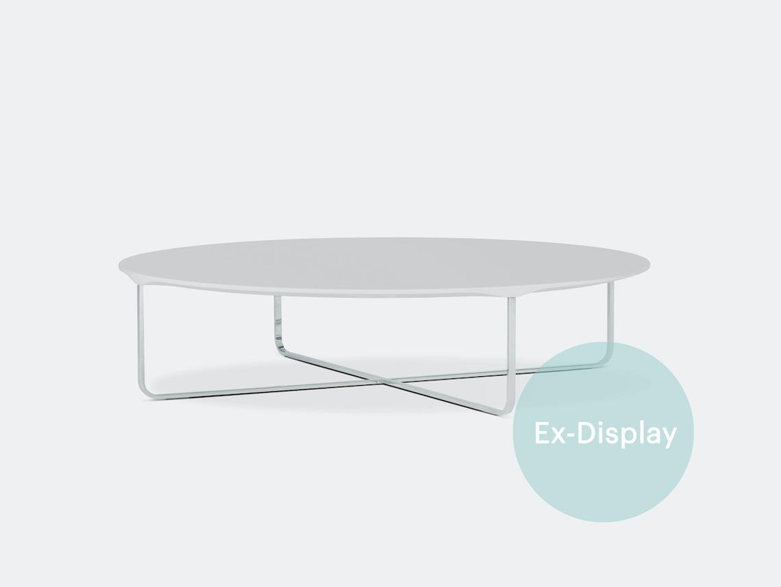 Montis Flint Oval Coffee Table White Chrome Ex Display