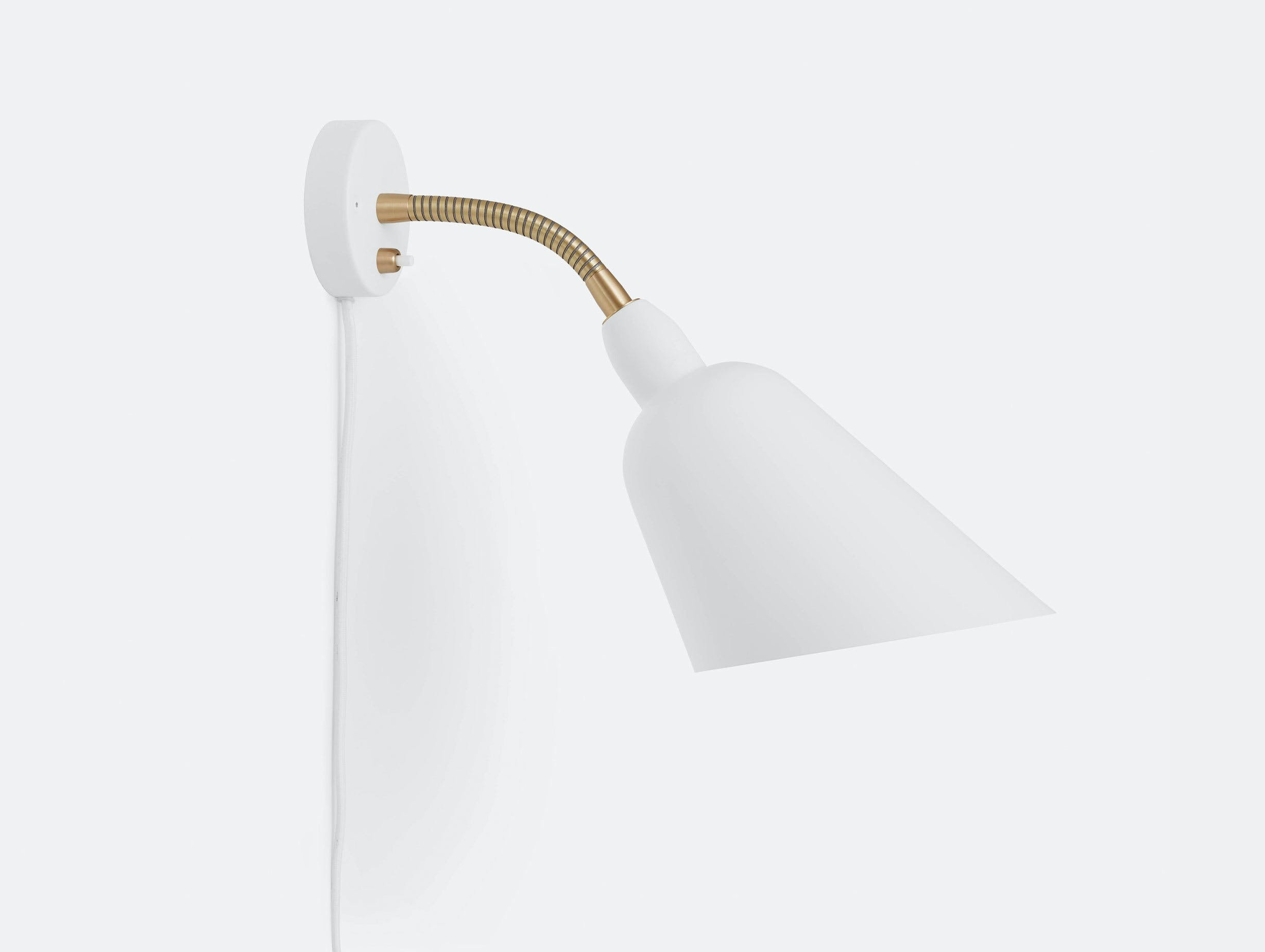 And Tradition Bellevue wall lamp AJ9 white Arne Jacobsen