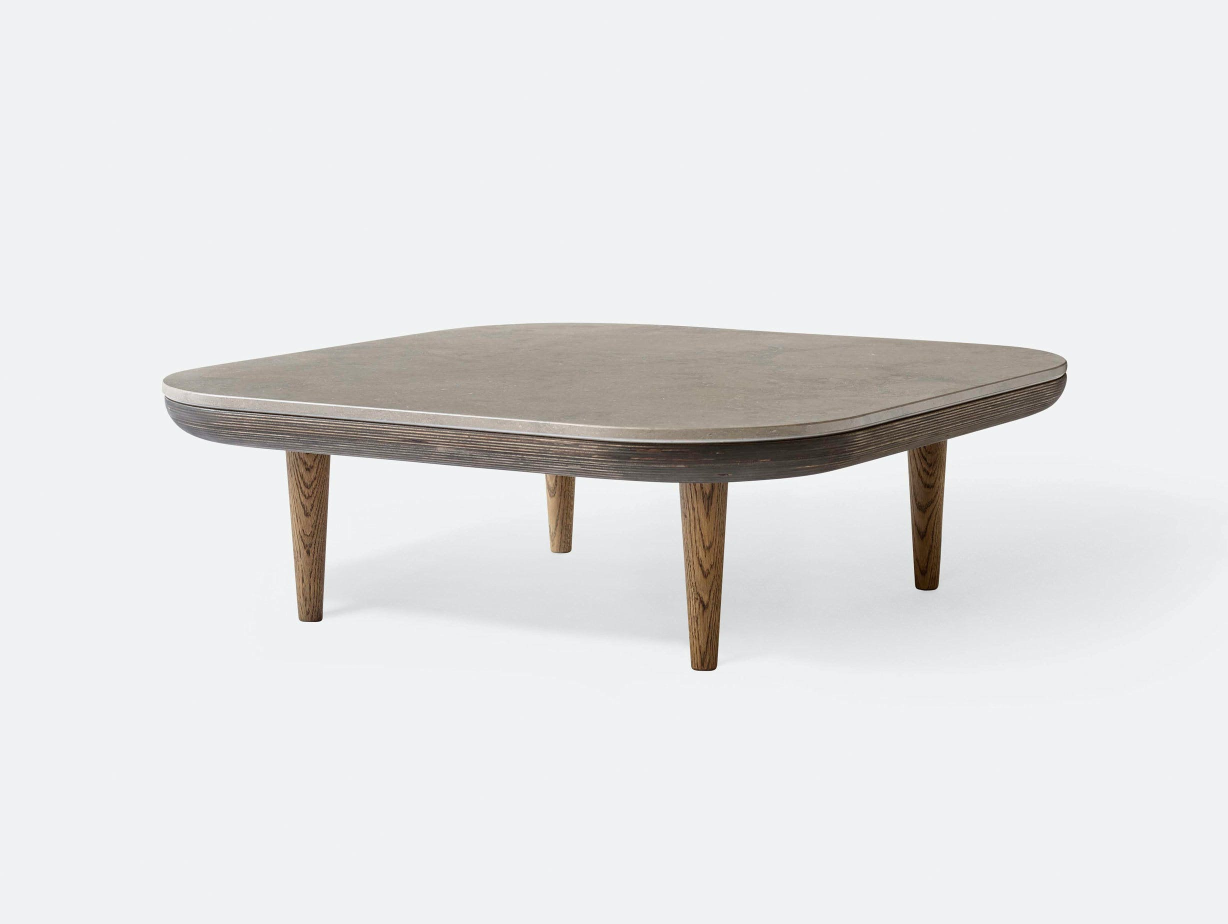 And Tradition Fly table smoked oak honed Azul Valverde Space Copenhagen