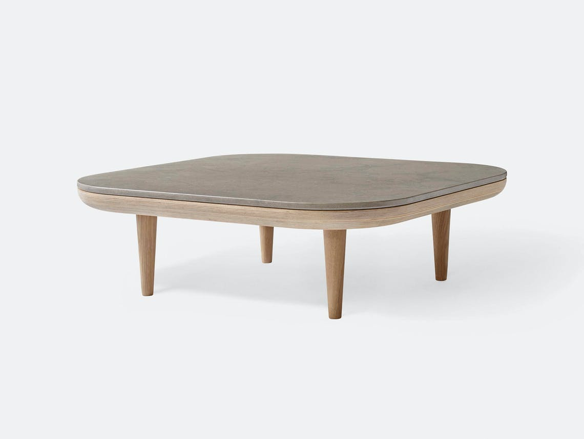 And Tradition Fly table white oiled oak honed Azul Valverde Space Copenhagen