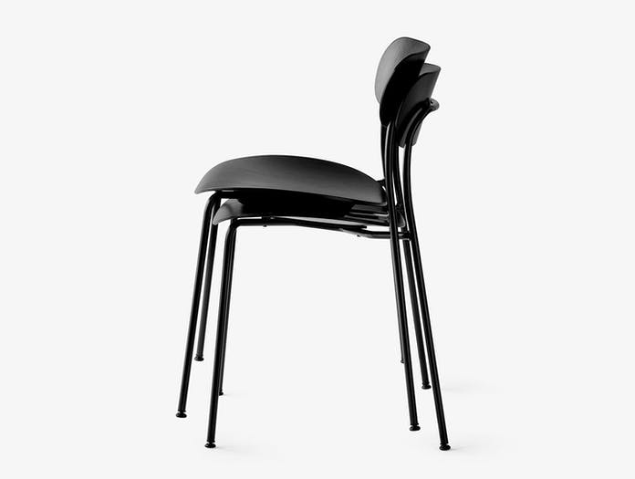 And Tradition Pavilion AV1 Chair black oak stackable Anderssen Voll