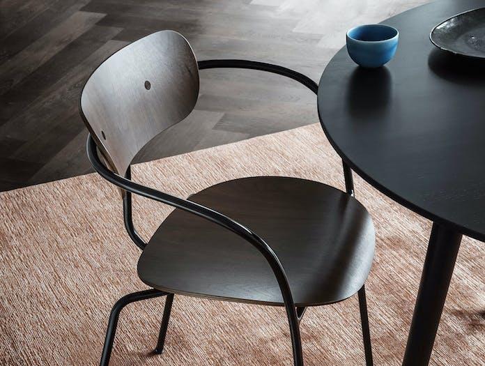 And Tradition Pavilion AV2 Armchair walnut detail Anderssen Voll