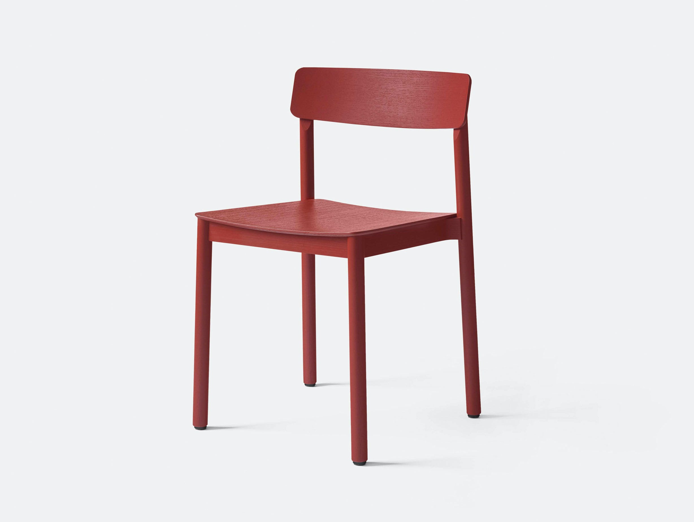 And Tradition TK2 Betty Wood Chair Maroon Thau Kallio