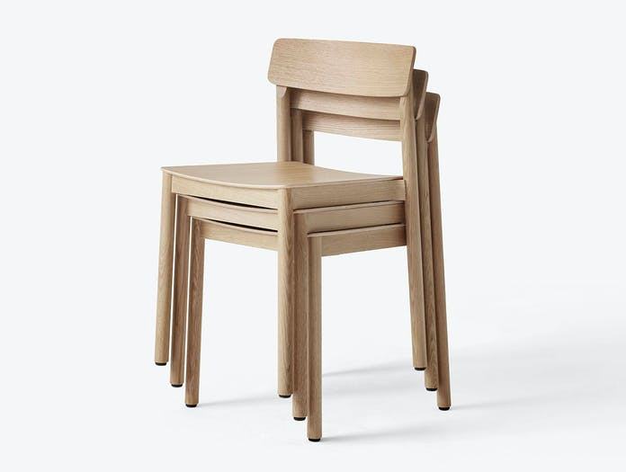 And Tradition TK2 Betty Wood Chair Stackable Oak Thau Kallio