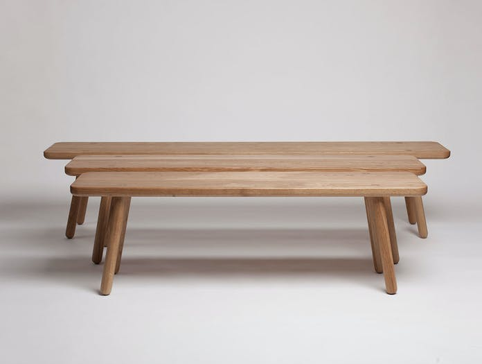 Another Country Bench One Oak x3