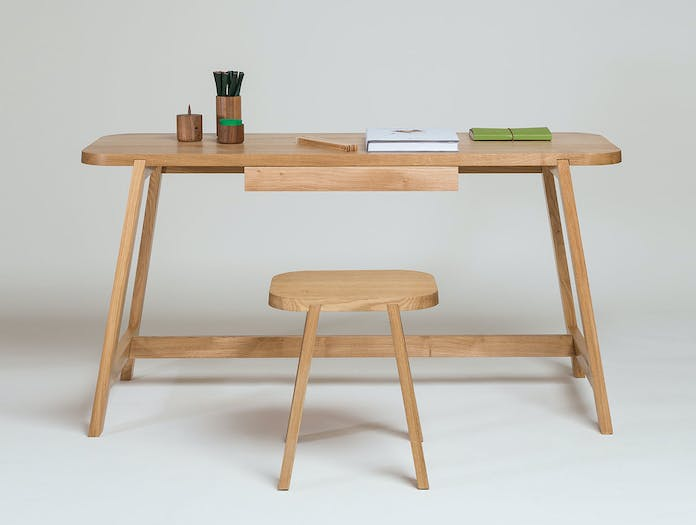 Another Country Desk Three oak 2