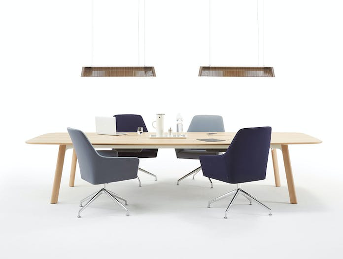 Arco Grid Work Conference Table oak 2 Jonathan Prestwich