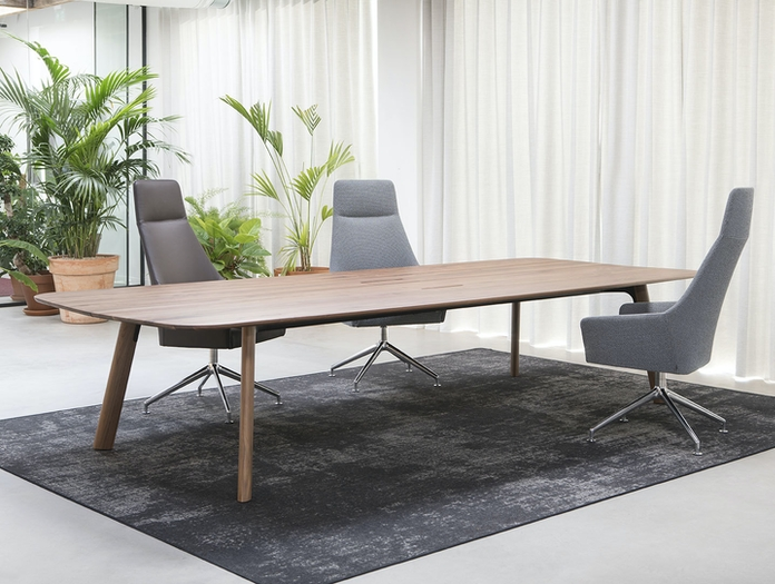Arco Grid Work Conference Table walnut Jonathan Prestwich