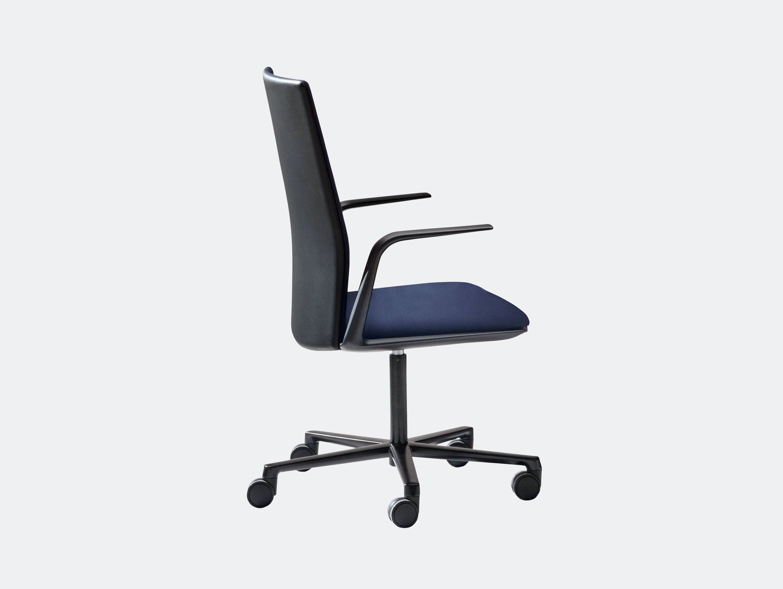 Arper Kinesit Task Chair black blue upholstery