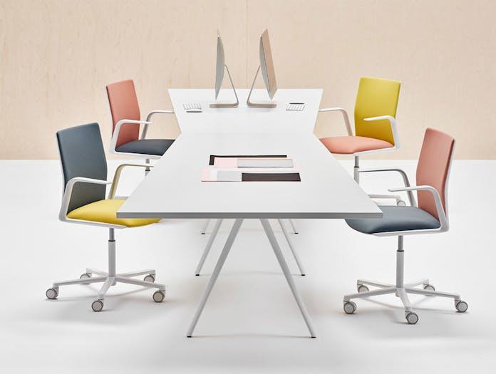 Arper Kinesit taskchair armrest 5ways front face upholstery 4811 2