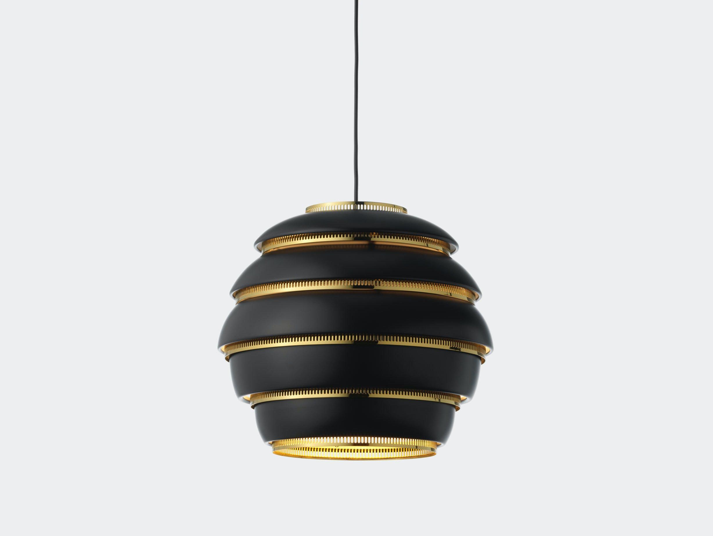 Artek A331 Beehive Pendant Light black brass Alvar Aalto