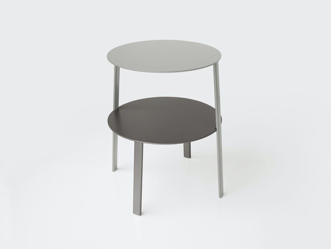 Bensen Bi Side Table graphite base silver top MSDS