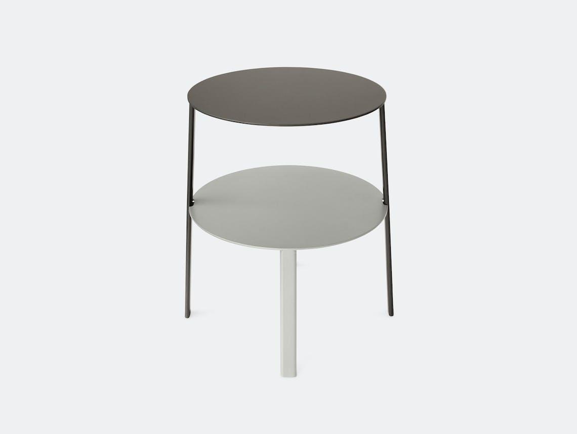 Bensen Bi Side Table Graphite Silver Msds