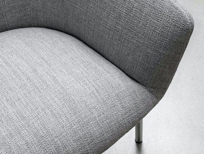 Bensen Metro Lounge Chair grey fabric detail 1 Niels Bendtsen