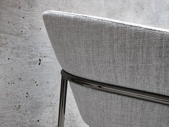 Bensen Metro Lounge Chair grey fabric detail 2 Niels Bendtsen