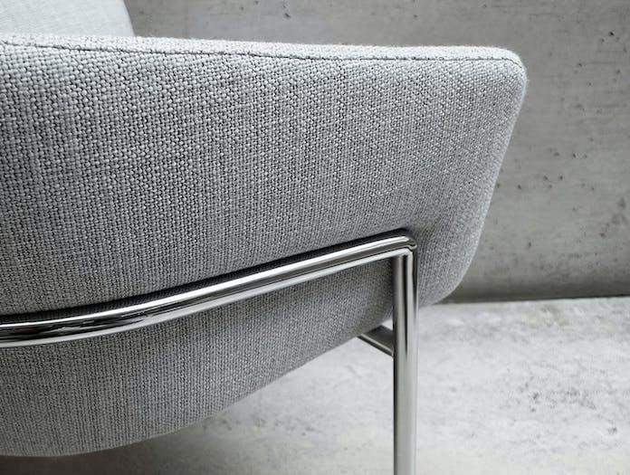 Bensen Metro Lounge Chair grey fabric detail 4 Niels Bendtsen