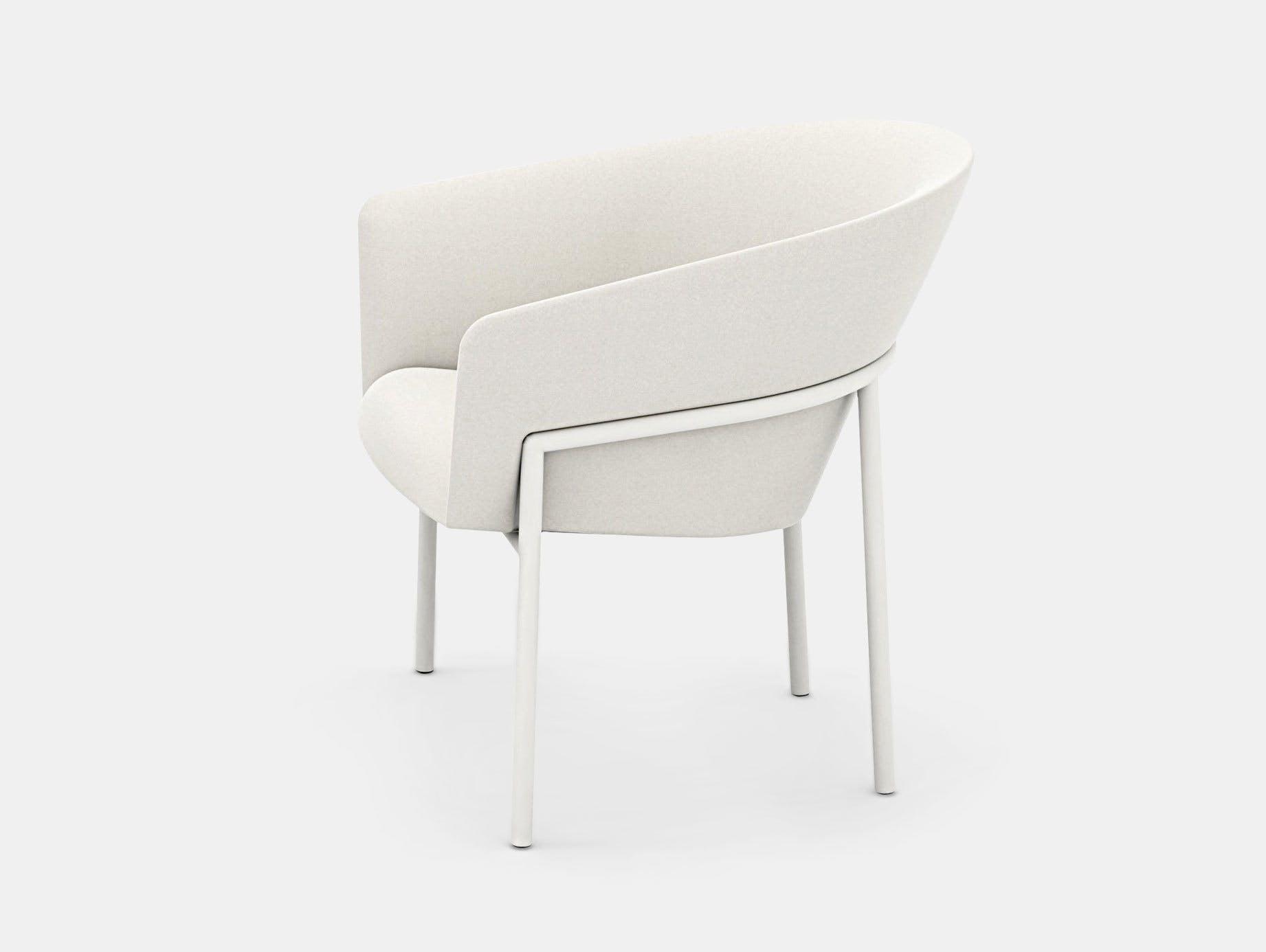 Bensen Metro Lounge Chair white frame Niels Bendtsen