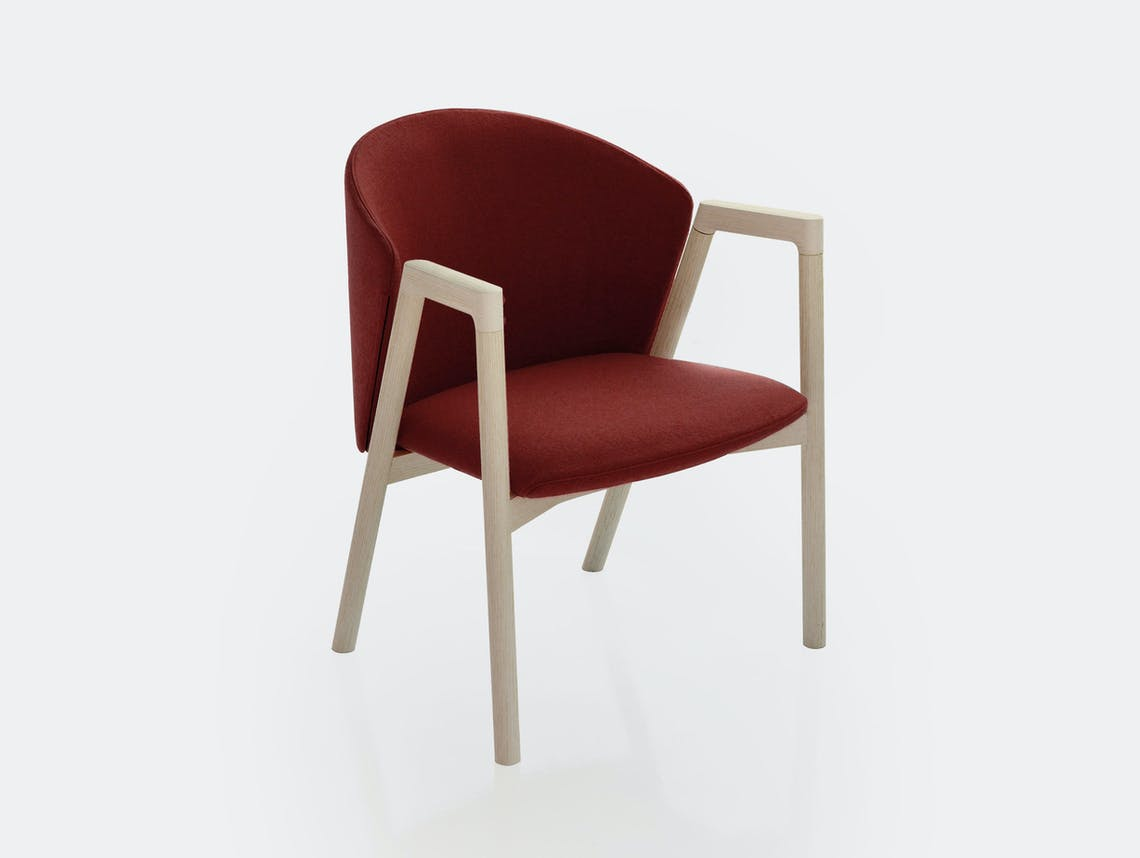 Bensen Pub Chair red Decor 0371 ash frame
