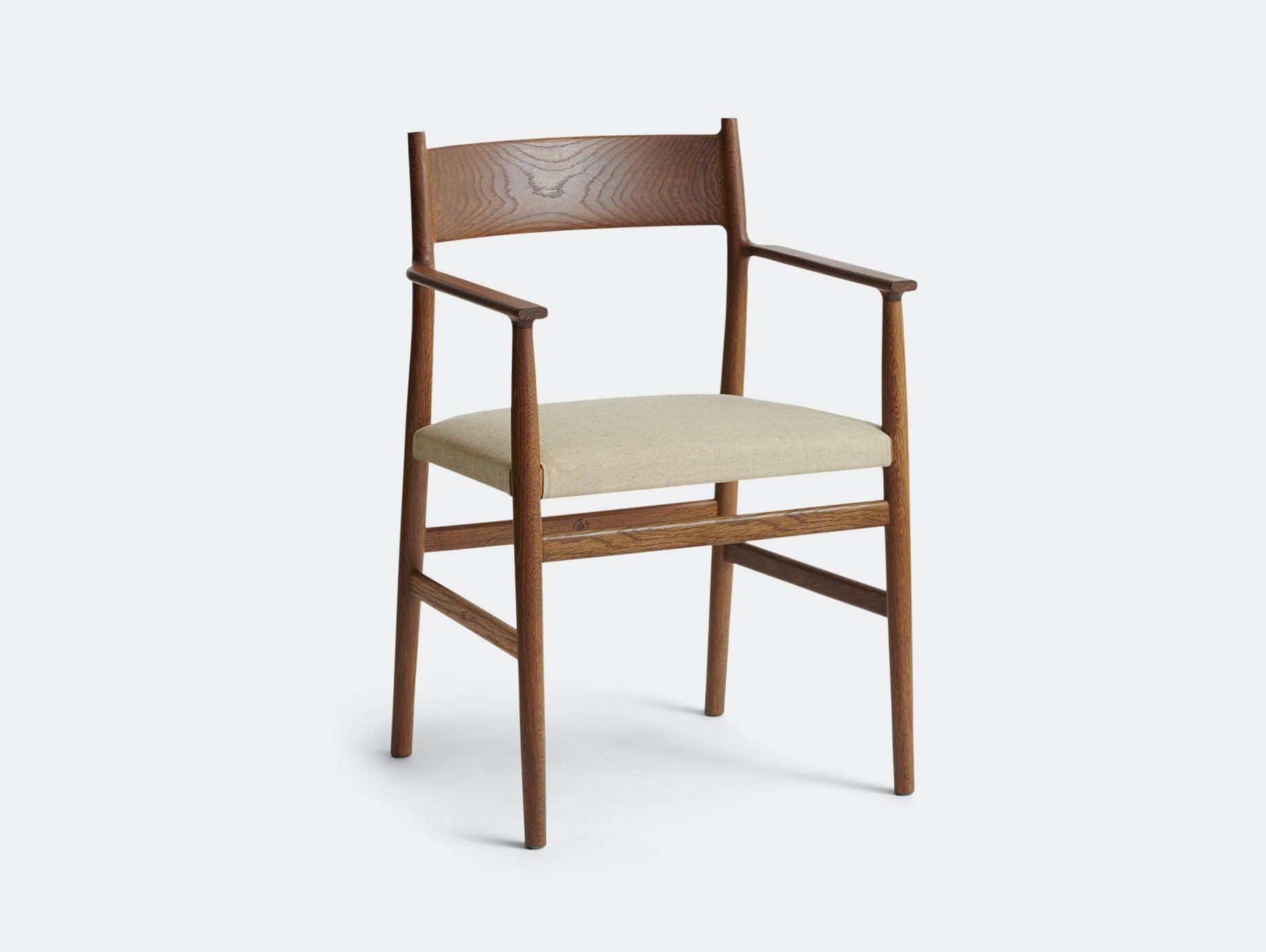 Brdr Kruger ARV Armchair Upholstered Fumed Oak Floyd Canvas Studio David Thulstrup