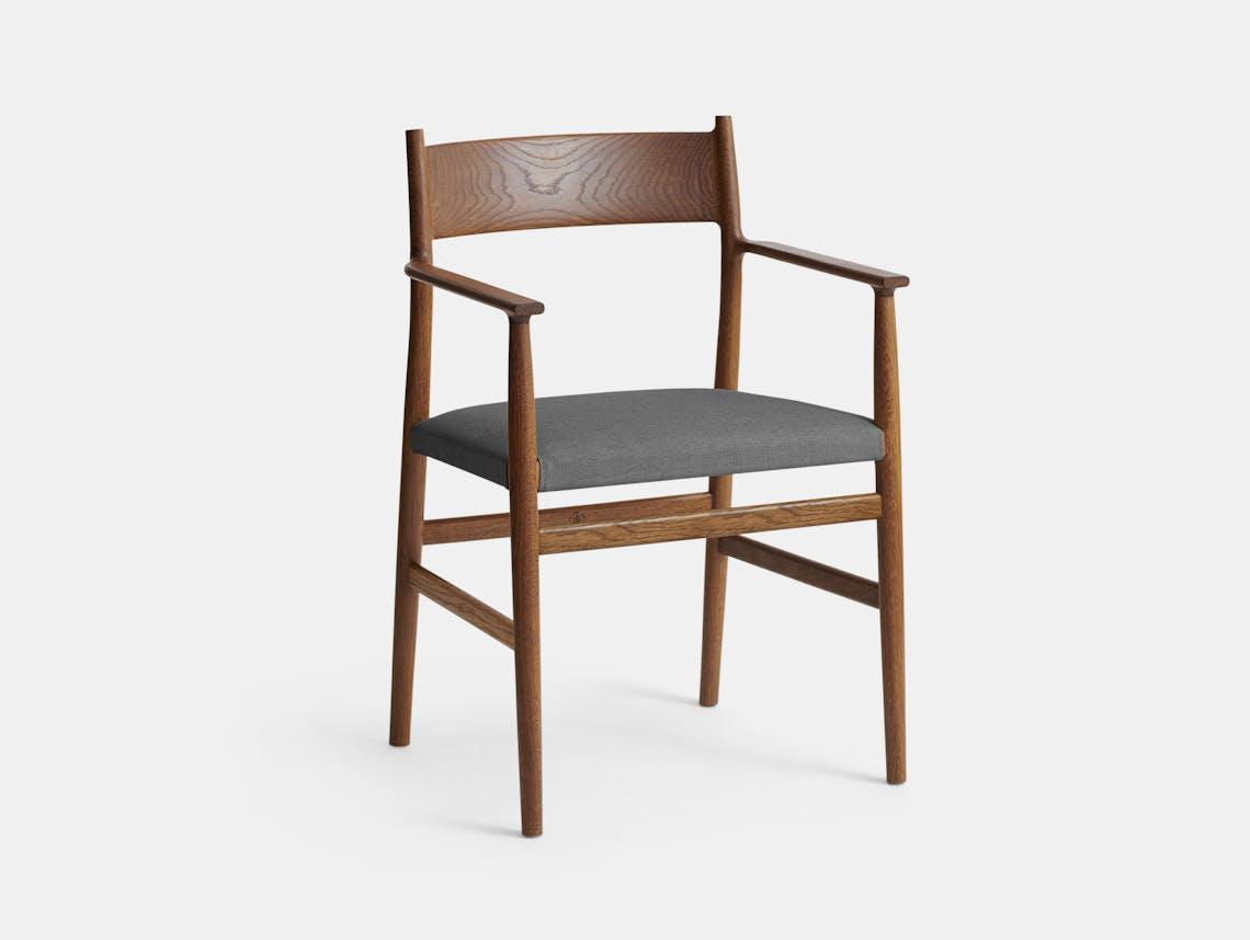 Brdr Kruger ARV Armchair Upholstered Fumed Oak Floyd Grey Studio David Thulstrup