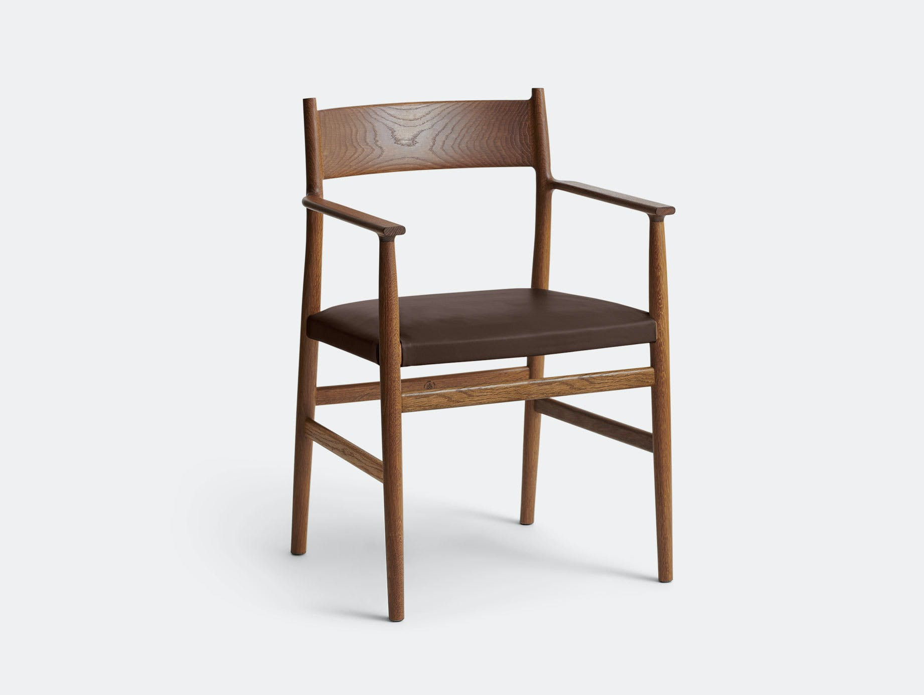 Brdr Kruger ARV Armchair Upholstered Fumed Oak Savanne Brown Studio David Thulstrup