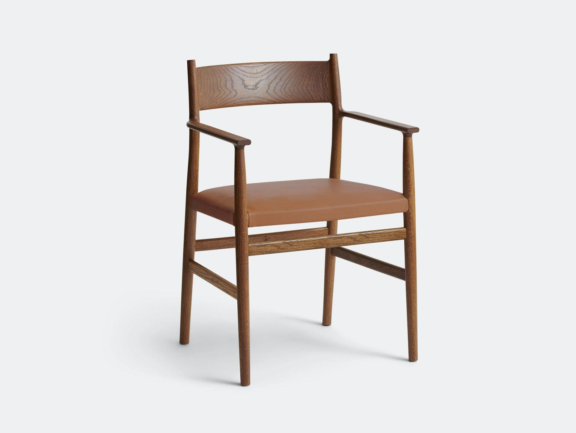 Brdr Kruger ARV Armchair Upholstered Fumed Oak Savanne Cognac Studio David Thulstrup