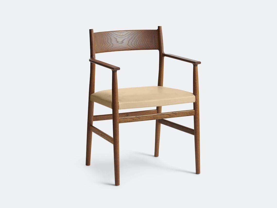 Brdr Kruger ARV Armchair Upholstered Fumed Oak Savanne Nature Studio David Thulstrup