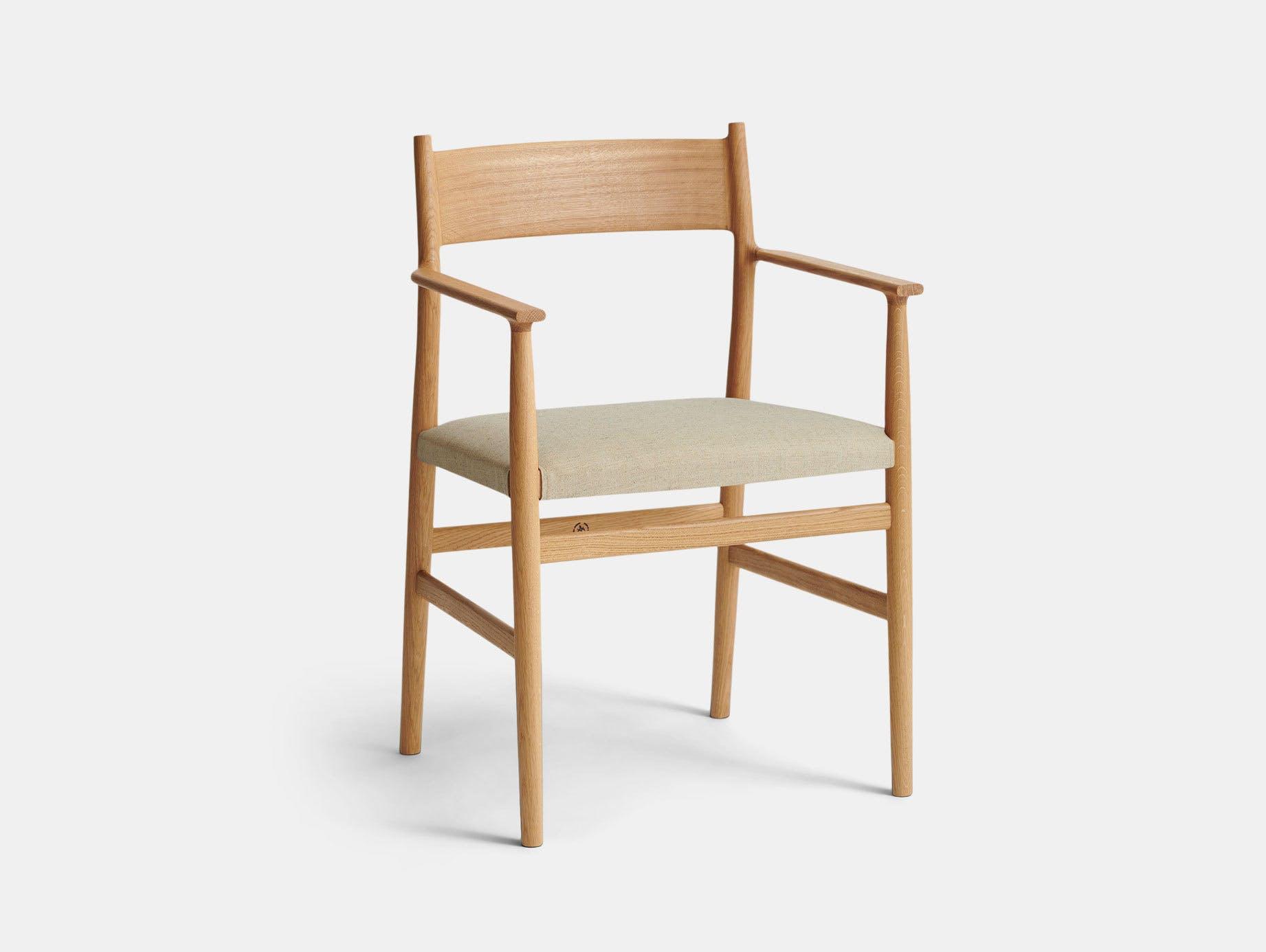 Brdr Kruger ARV Armchair Upholstered Oak Floyd Canvas Studio David Thulstrup