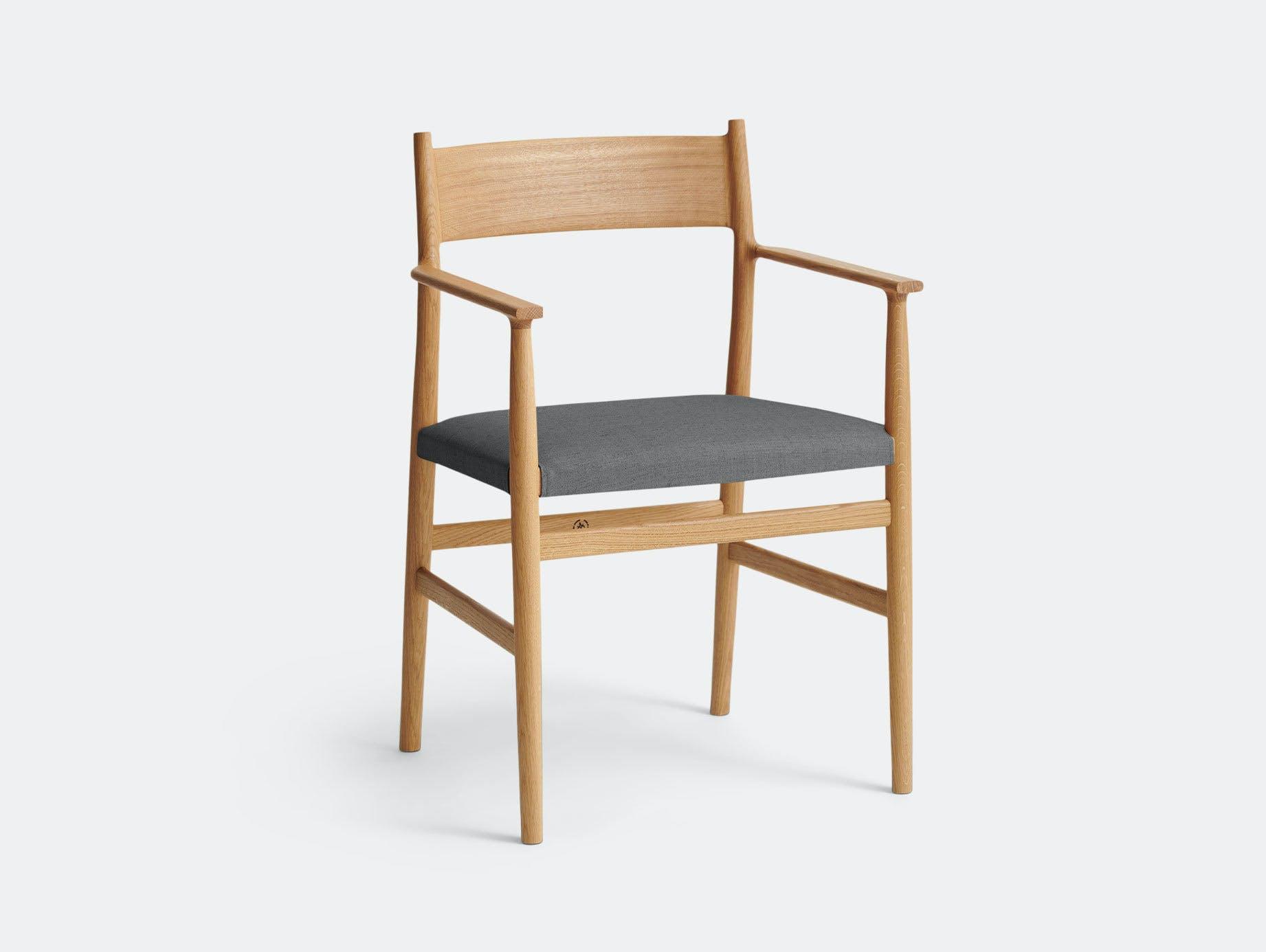 Brdr Kruger ARV Armchair Upholstered Oak Floyd Grey Studio David Thulstrup