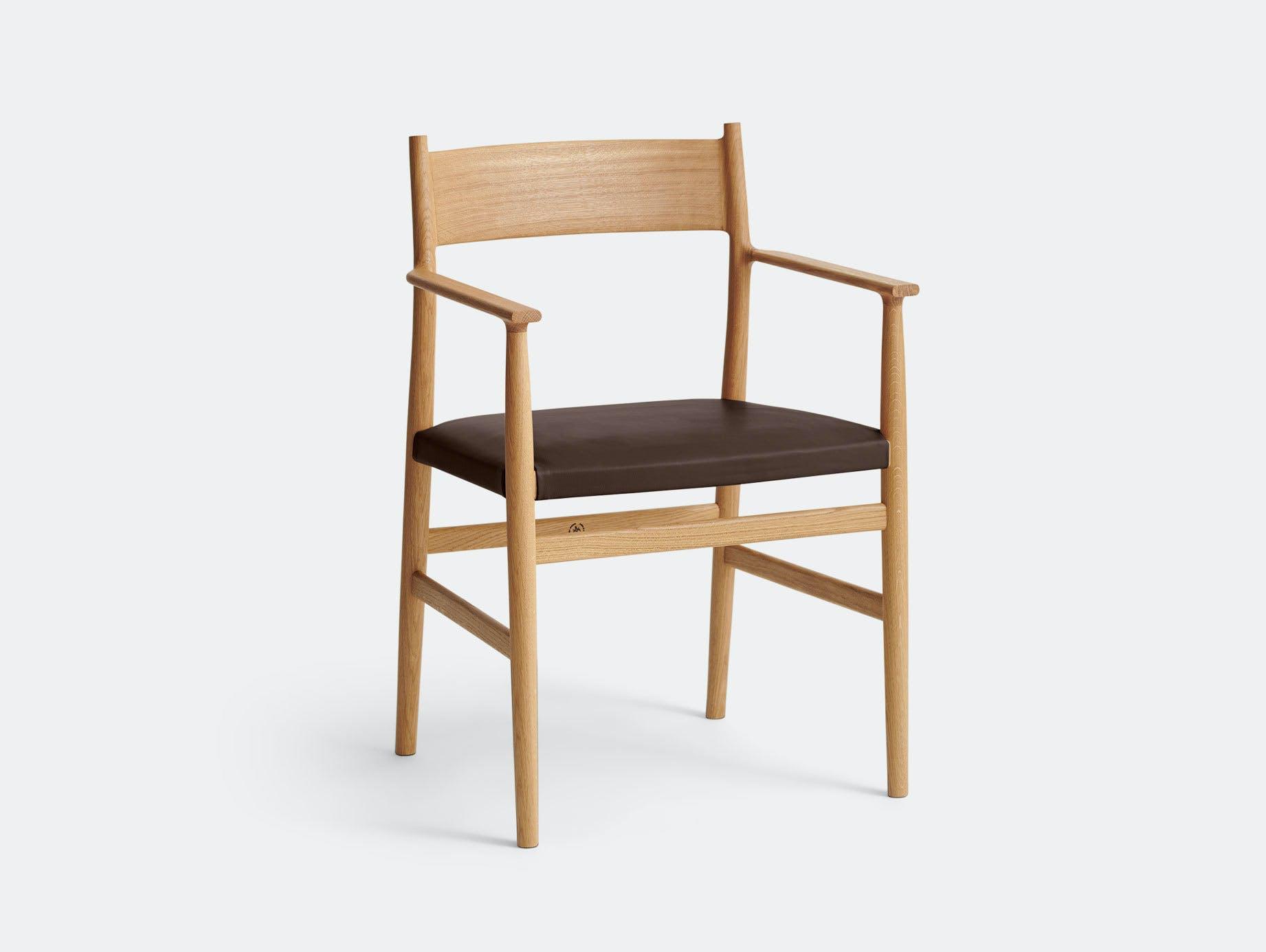 Brdr Kruger ARV Armchair Upholstered Oak Savanne Brown Studio David Thulstrup