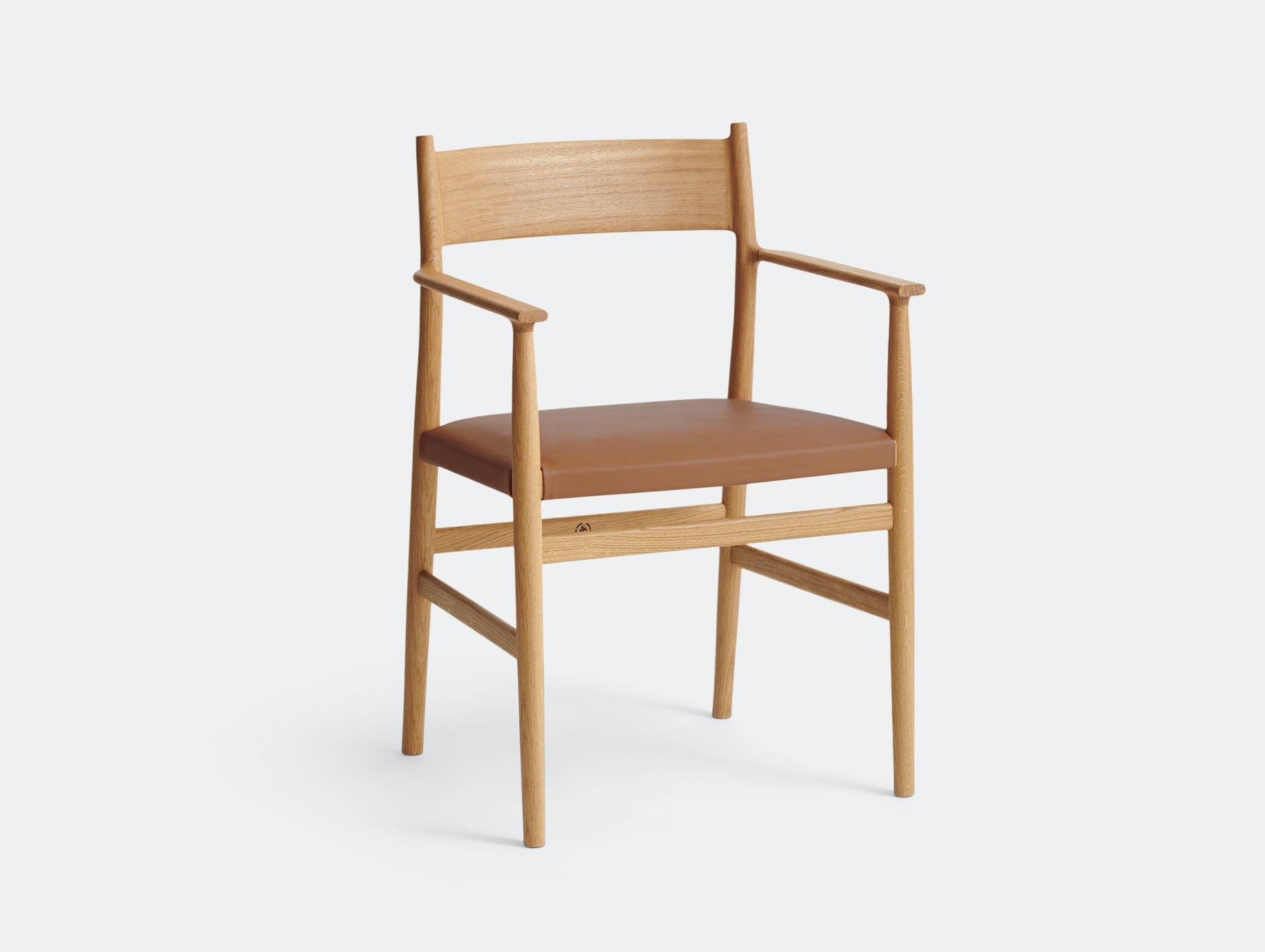 Brdr Kruger ARV Armchair Upholstered Oak Savanne Cognac Studio David Thulstrup