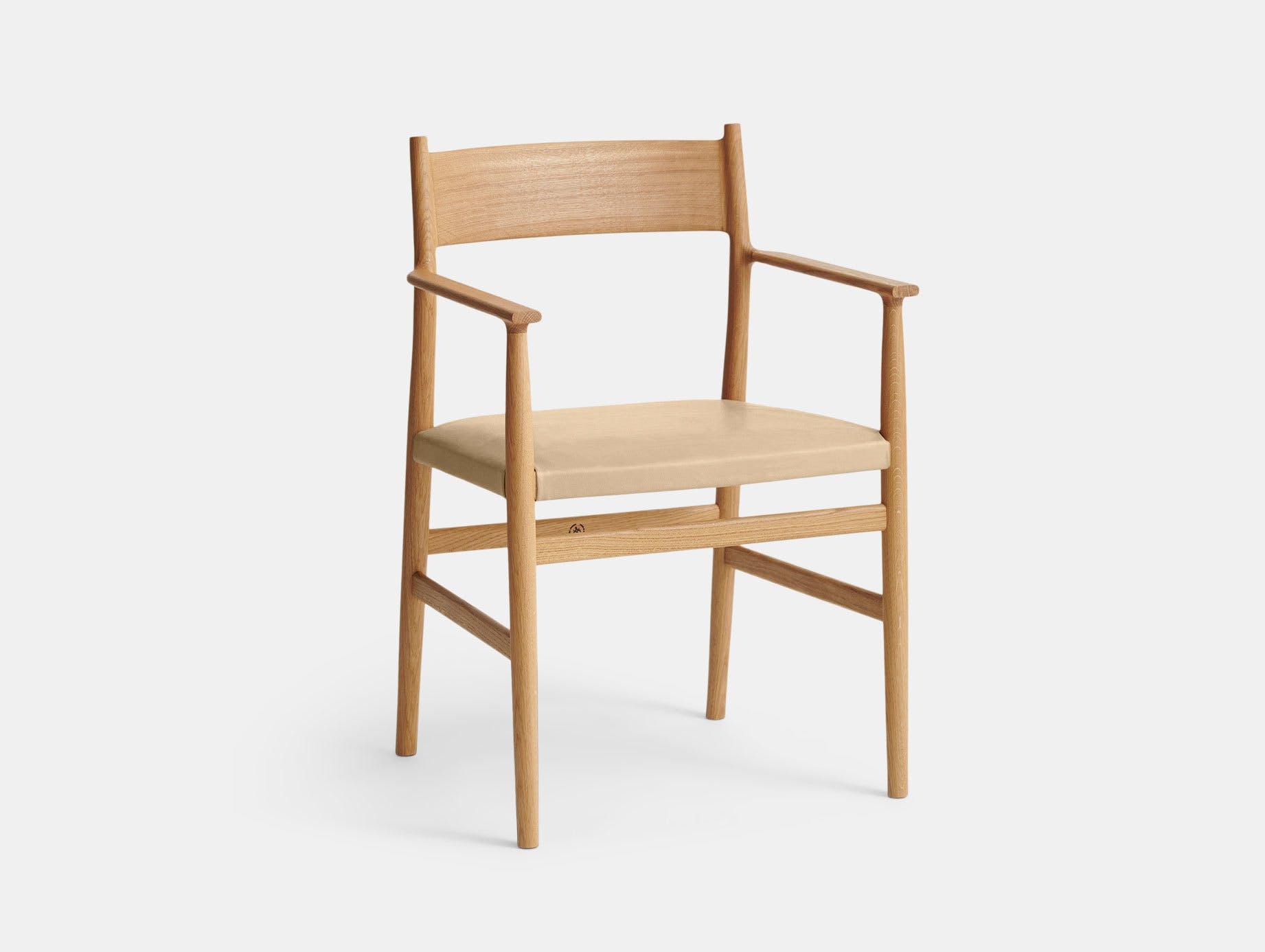 Brdr Kruger ARV Armchair Upholstered Oak Savanne Nature Studio David Thulstrup