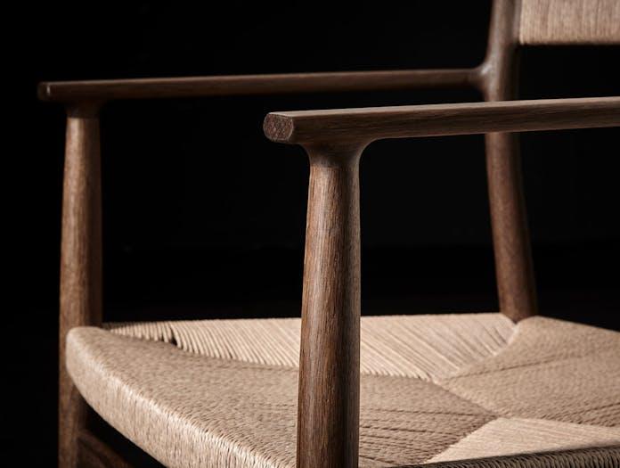 Brdr Kruger ARV Armchair fumed oak detail Studio David Thulstrup