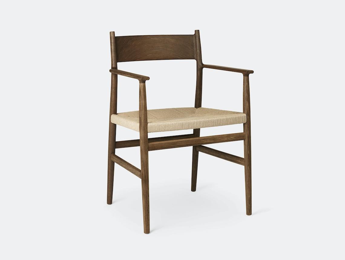 Brdr Kruger ARV Armchair fumed oak woven seat Studio David Thulstrup