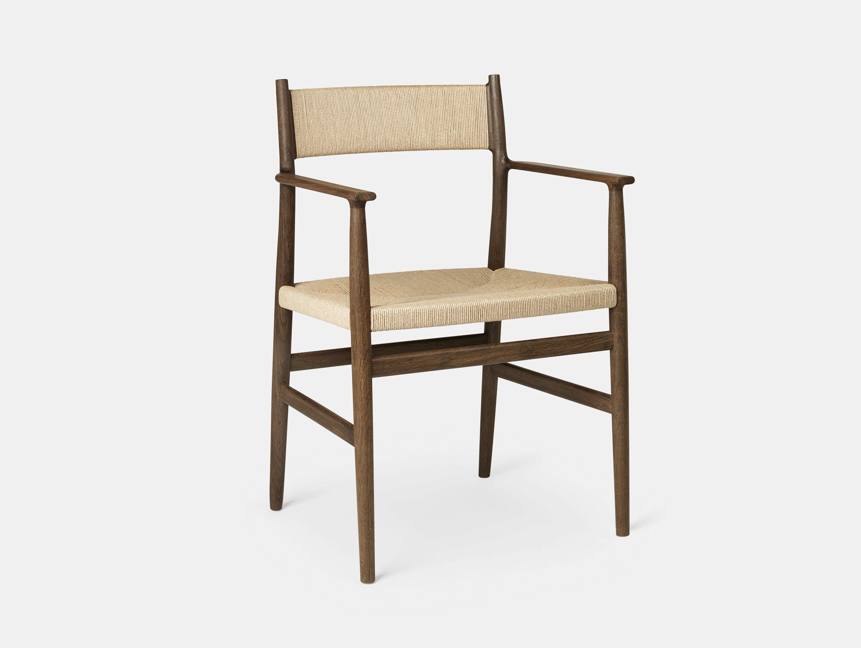 Brdr Kruger ARV Armchair fumed oak woven seat and back Studio David Thulstrup