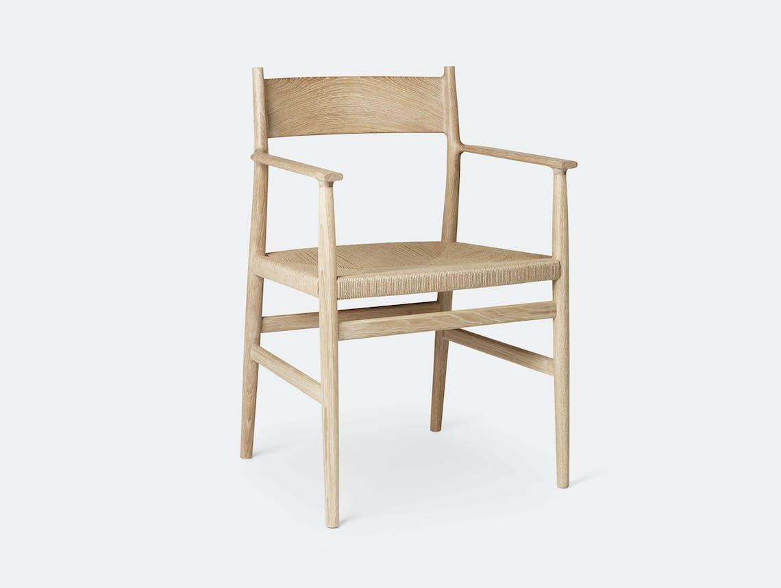 Brdr Kruger ARV Armchair oak woven seat Studio David Thulstrup