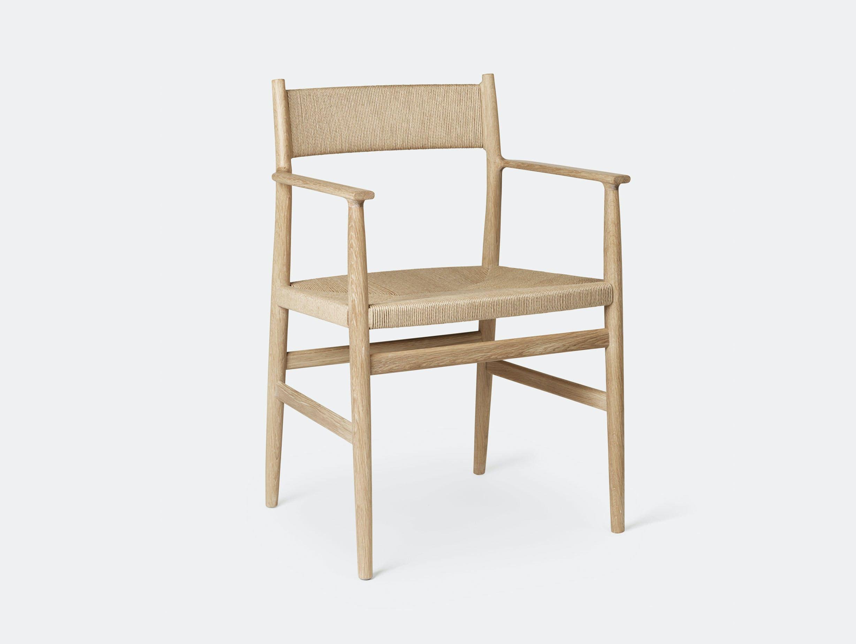 Brdr Kruger ARV Armchair oak woven seat and back Studio David Thulstrup