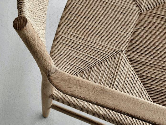 Brdr Kruger ARV Armchair oak woven seat and back detail 1 Studio David Thulstrup