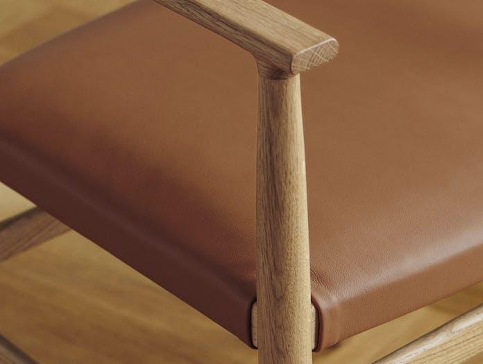 Brdr Kruger ARV Armchairs Upholstered oak leather detail Studio David Thulstrup