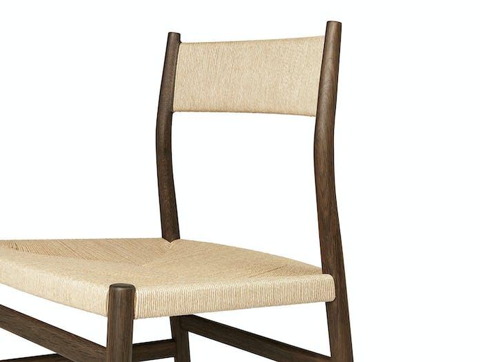 Brdr Kruger ARV Side Chair fumed oak detail Studio David Thulstrup