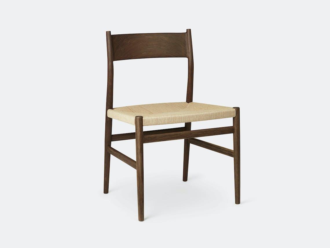 Brdr Kruger ARV Side Chair fumed oak woven seat Studio David Thulstrup