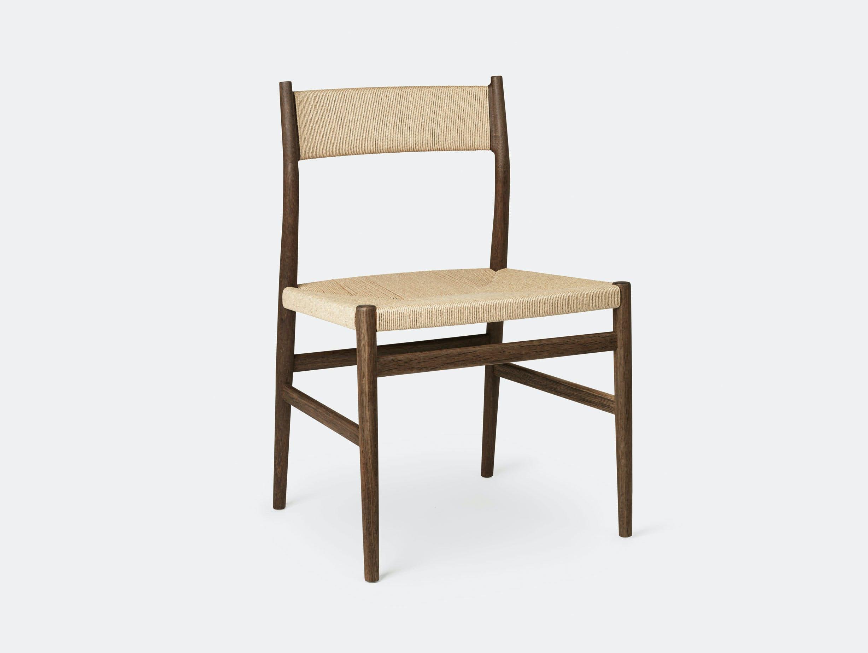 Brdr Kruger ARV Side Chair fumed oak woven seat back Studio David Thulstrup