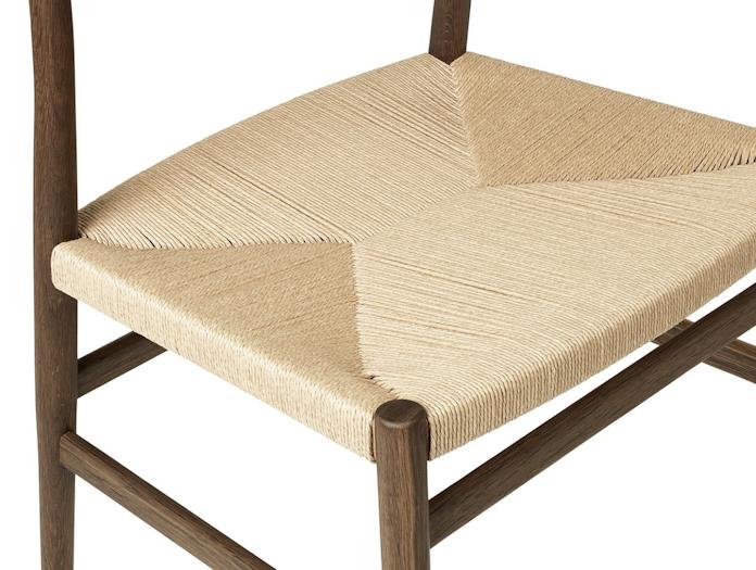 Brdr Kruger ARV Side Chair fumed oak woven seat detail Studio David Thulstrup