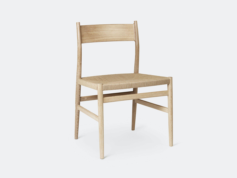 Brdr Kruger ARV Side Chair oak woven seat Studio David Thulstrup