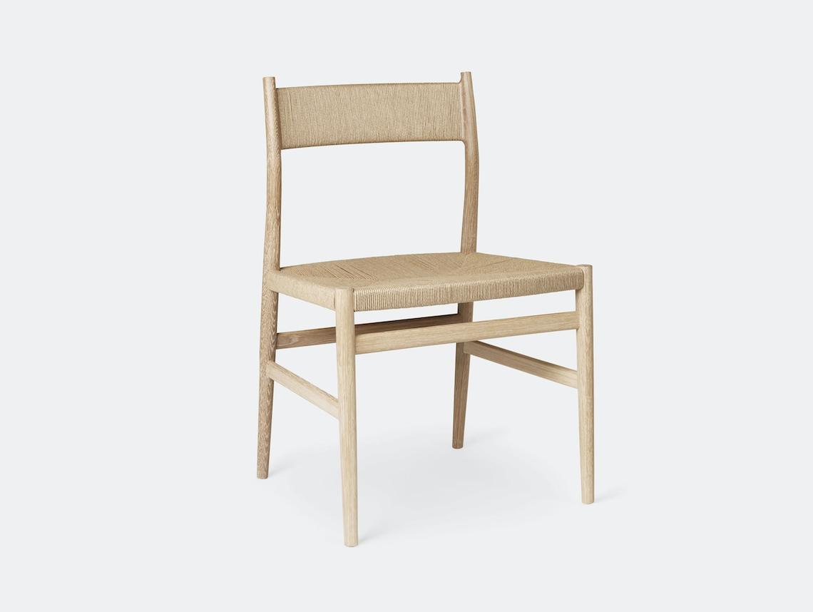 Brdr Kruger ARV Side Chair oak woven seat back Studio David Thulstrup