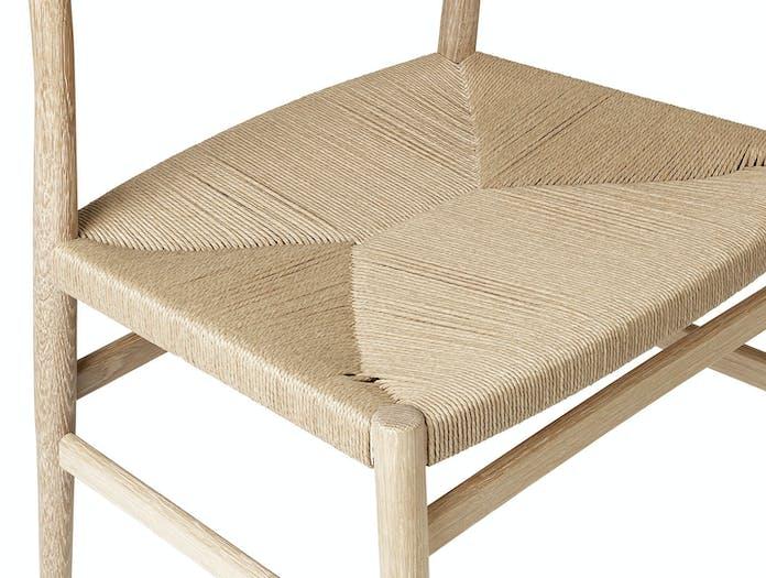 Brdr Kruger ARV Side Chair oak woven seat detail Studio David Thulstrup