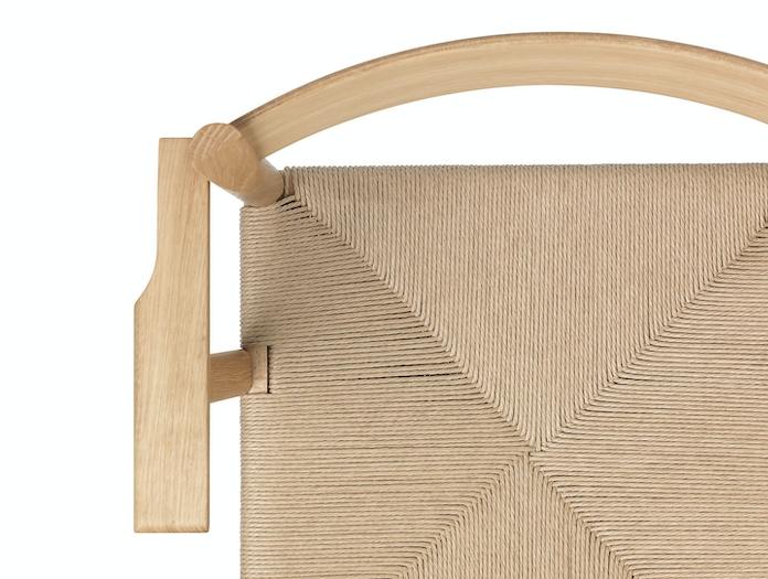 Brdr Kruger F Armchair oak papercord detail 1 Rasmus Baekkel Fex