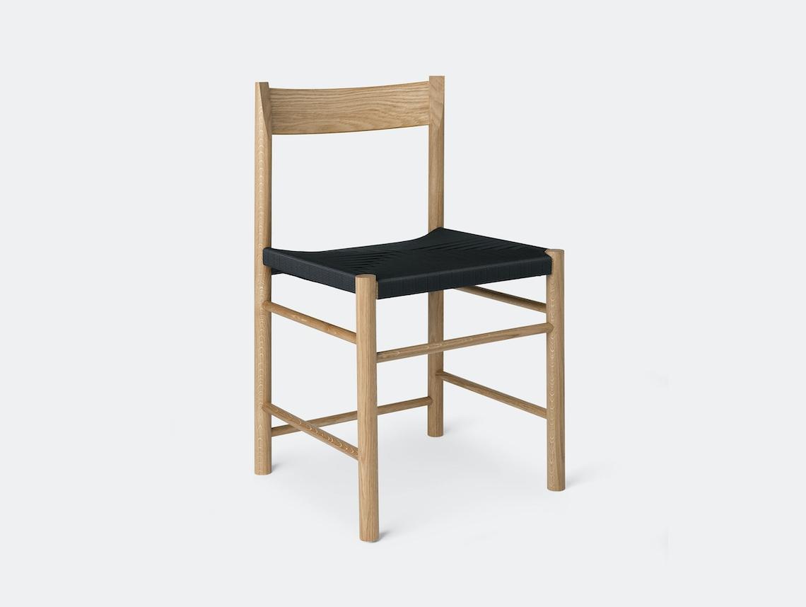 Brdr Kruger F Side Chair oak black Rasmus Baekkel Fex