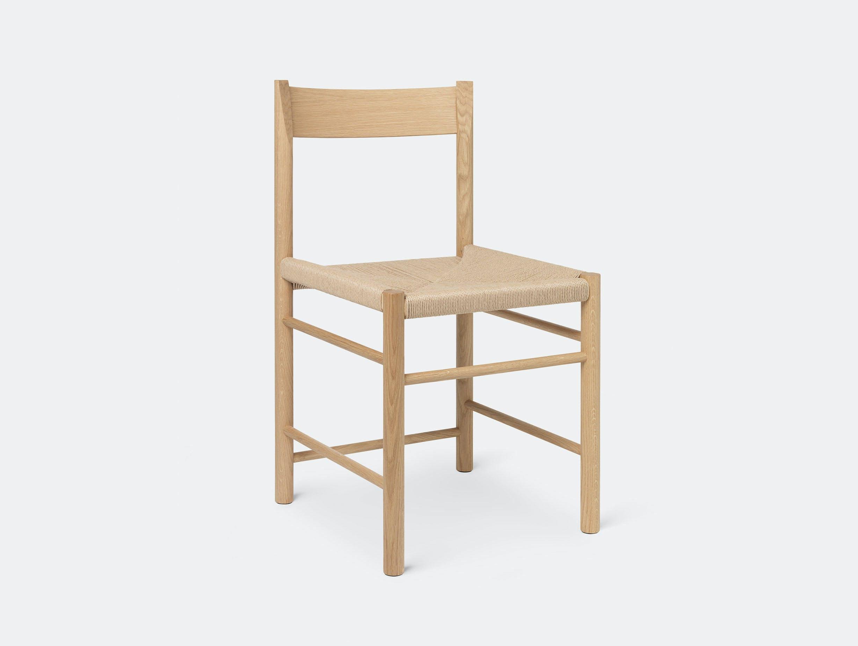 Brdr Kruger F Side Chair oak papercord Rasmus Baekkel Fex