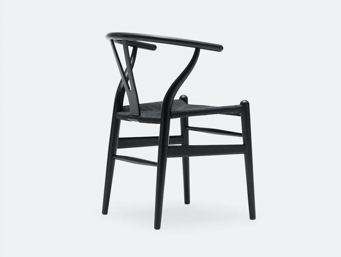 Carl Hansen CH24 Wishbone Chair Black Black Hans Wegner